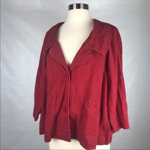 Sundance Red Button Up Jacket